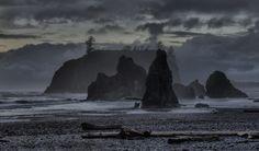 Stormy Ruby Beach, Olympic National Park, Washington State
