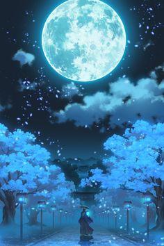 Pin by 馥萱 顏 on 夜空 Wallpaper Animes, Anime Scenery Wallpaper, Wallpaper Backgrounds, Beautiful Nature Wallpaper, Beautiful Moon, Beautiful Landscapes, Night Sky Wallpaper, Galaxy Wallpaper, Galaxy Art