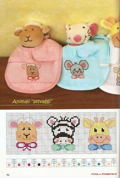 This Pin was discovered by Lor Baby Cross Stitch Patterns, Cross Stitch Baby, Cross Stitch Animals, Cross Stitch Charts, Cross Stitch Designs, Baby Patterns, Cross Stitching, Cross Stitch Embroidery, Baby Motiv