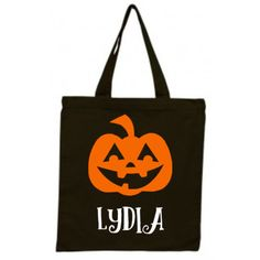 Halloween Trick or Treat Bag, Personalized Pumpkin Halloween Tote Bag,... ($13) ❤ liked on Polyvore featuring bags, handbags, tote bags, canvas tote bags, handbags totes, tote bag purse, tote hand bags and handbags tote bags