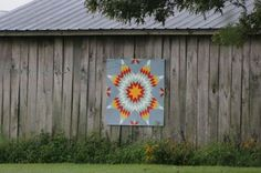 Barn quilt painted by Tim Driskell