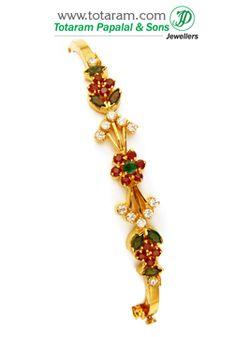 Totaram Jewelers: Buy 22 karat Gold jewelry & Diamond jewellery from India: Gold Bracelets