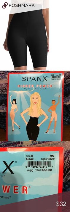 🆕 Spanx Higher Power size B Shapewear Higher power High-waisted Power panties. Brand new in package- never opened. Size B - see size chart in pictures   Color black. See pictures for further descriptions. SPANX Intimates & Sleepwear Shapewear
