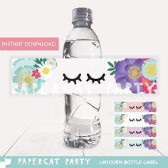 ★ ★ ★ This listing is for Unicorn DIY Printable Bottle Labels ★ ★ ★ Add a special touch to your Unicorn party with these cute Bottle Labels!! Make your own unique Labels, Simply Print, Cut & Glue onto the bottle. Print as many as you need! They come in 4 different colors and fit