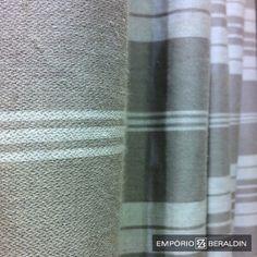 Linho listrado da Coleção Geometrias 2014, para uso em cortinas e estofados. #EmporioBeraldin2014