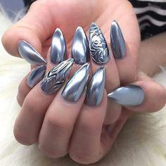 DIY chrome nail art designs