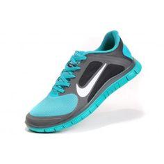 6ee9429613af Nike Free Run Running Shoes Blue Grey