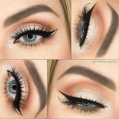 Peach & Soft Bridal Eye Makeup