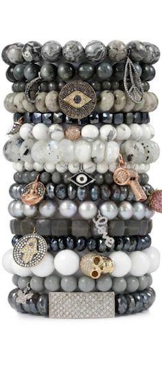 Sydney Evan Bracelet Stacks Gemstone Bracelets Jewelry Hemae Bangles Hippie