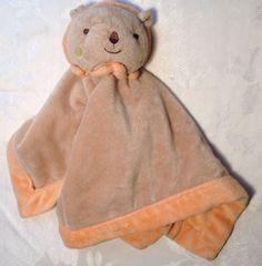 LOVEY Tiddliwinks Brown Orange Lion Baby Security Blanket Blankie Woobie EUC #Tiddliwinks