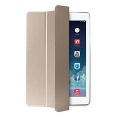 Funda Soporte para iPad Air 2 Puro Zeta Slim Trasera Transparente Cierre Magnético Oro