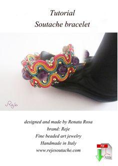 """Soutache TUTORIAL DIY bracelet """"Colorado"""" Download it on Etsy: https://www.etsy.com/listing/228374186/diy-soutache-tutorial-english-version?ref=shop_home_active_3"""