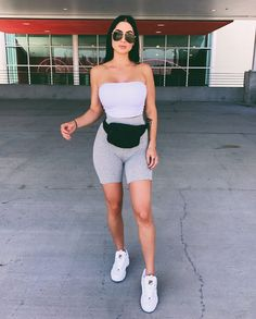 Tube Top Poppin Search: Essential Bandeau Search: Natalee Biker S Outfits Chill Outfits, Short Outfits, Trendy Outfits, Summer Outfits, Fashion Outfits, Fashion Trends, Traveling Outfits, College Outfits, Classy Outfits