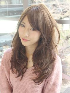 大人カジュアル×ロングレイヤー Kawaii Hairstyles, Permed Hairstyles, Cute Hairstyles, Japanese Perm, Hair Inspo, Hair Inspiration, Digital Perm, Medium Hair Styles, Long Hair Styles
