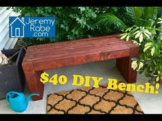 DIY Modern Outdoor Bench/Coffee Table -- 2x4s only - YouTube