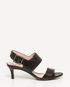 Leather Double Band Slingback | LE CHÂTEAU
