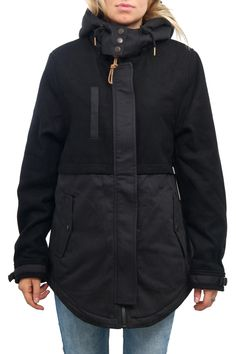 Volcom Wms Mitch Parka Jacket - Black