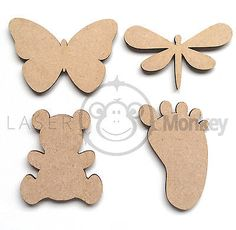 Pack Wooden Seaside Blanks Seahorse Shell Laser Cut MDF Embellishments Craft