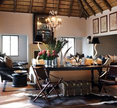 african-interior 1 londolzi-Pioneer-Camp-living-room © Yvonne O'Brien: The Private House Co