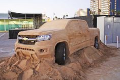 2015 Chevrolet Colorado is now made out of sand [w/video]  http://www.4wheelsnews.com/2015-chevrolet-colorado-is-now-made-out-of-sand-w-video/  #chevrolet #colorado #sand #pickuptruck #automotive