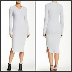 """Ribbed Sweater Dress Bodycon ribbed Sweater Dress.  48"""" in length.  60 cotton / 40 acrylic. Romeo & Juliet Couture Dresses Midi"""