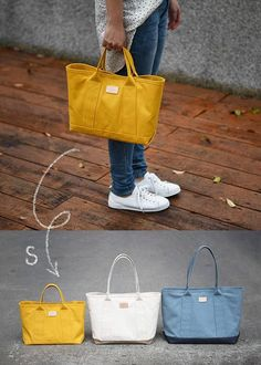 tote bag sewing pattern + instructions - this would work great for a knitting tote