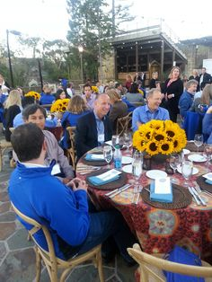 Let's eat! A delicious dinner is served at the Mountain Winery #IntuitSummit