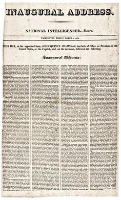 1825 Inaugural Address of President John Quincy  Adams : Lot 248