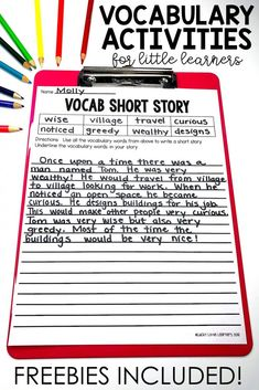 Writing stories is the ultimate determination of whether or not a student truly understands the meaning of his/her vocabulary words. The teacher writes the vocabulary words that he/she would like the students to use when writing their short stories before List Of Vocabulary Words, Teaching Vocabulary, Vocabulary Practice, Vocabulary Building, Vocabulary Worksheets, Teaching Writing, Vocabulary Strategies, Vocabulary Journal, Teaching Spanish