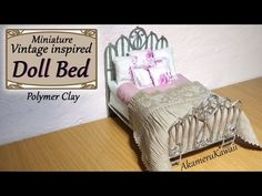 Creating Dollhouse Miniatures: Miniature Vintage Inspired Doll Bed Polymer Clay Tutorial