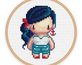 HELLO SAILOR: a pixel art counted cross-stitch pattern - digital download - printable pdf file