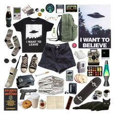 """""""UFO Hunting"""" by shimshimyo ❤ liked on Polyvore featuring Madewell, Converse, Lava, American Apparel, Michele, Jura, Sony and Moleskine"""