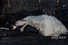 Edie CampbellbySteven Kleinfor the Alexander McQueen Autumn/Winter 2014/2015 ad Campaign