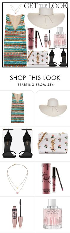 """Untitled #467"" by farrahaqs on Polyvore featuring Alice + Olivia, Nine West, Yves Saint Laurent, Michael Kors, Maybelline, Jimmy Choo, GetTheLook and hats"