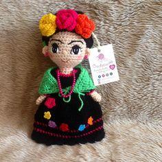 Bellísima Frida Kahlo❤️ #crochet #knitting #crochetlove #fridakahlo #amigurumi #tejidos #chetumal