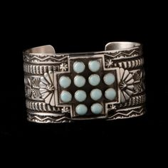 Turquoise Cross Concho Cuff