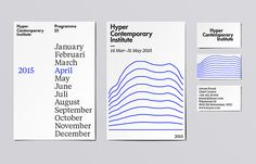 color-matching-system: The Hyper Contemporary Institute Get daily design… Graphic Design Branding, Identity Design, Visual Identity, Print Layout, Layout Design, Coin App, Visual Communication Design, Composition Design, Stationary Design