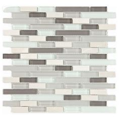 Shop for SomerTile Reflections Subway York Stone and Glass Mosaic Wall Tile sqft. Get free delivery On EVERYTHING* Overstock - Your Online Home Improvement Shop! Stone Mosaic Tile, Mosaic Wall Tiles, Mosaic Glass, Glass Art, Stained Glass, Mosaics, Glass Tiles, York Stone, Gloss Matte