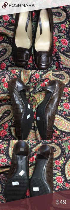 Brown Cole Haan buckle shoes size 6 1/2 b In great condition. One tiny flaw on toe as shown in fifth picture.   Size 6 1/2 B  Selling in my store for $60. Discount due to poshmark shipping costs  If you have any questions, please feel free to ask!  Bundle and save! Cole Haan Shoes Heels
