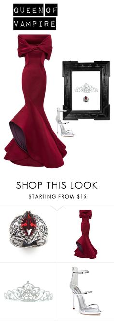 """Queen of Vampire"" by mprocedi on Polyvore featuring moda, New Directions, Carolina Herrera, Kate Marie, Linda Horn e Giuseppe Zanotti"