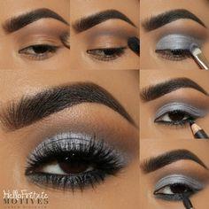 Motives® Eye Base – Single Jar g) Beauty-full – Das schönste Make-up Grey Eyeshadow, Eyeshadow Makeup, Hair Makeup, Makeup For Brown Eyes, Smokey Eye Makeup, Beauty Make Up, Beauty Full, Full Makeup, Beautiful Eye Makeup