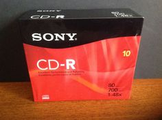 Sony CDQ 80R   CD-R x 10,   700 MB      Storage Media (10CDQ80R) #Sony