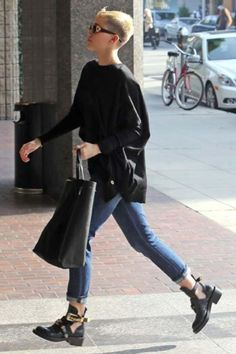 Miley Cyrus Ankle Cut Out Boots