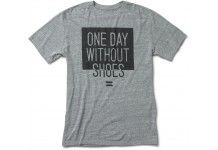 Unisex Heather Grey One Day Without Shoes Tee #toms