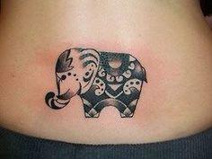 Cute little elephant - love it! #love #elephant #tattoo #tummy #cute