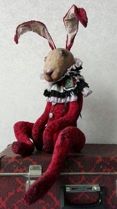 Купить Diamond. - тедди медведи, тедди, кролик, тедди кролик, кролик игрушка, Будуарная кукла Textile Sculpture, Soft Sculpture, Textile Art, Fabric Animals, Felt Animals, Art Projects, Sewing Projects, Rabbit Art, Funny Bunnies