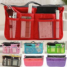 Women's Fashion Casual Multifunctional Mesh Cosmetic Makeup Bag Storage Tote Organizer(7 Color Choose – USD $ 8.99