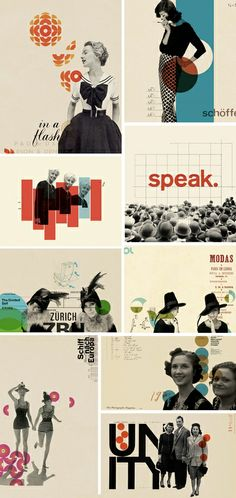 The beautiful and retro graphic collages by Cristiana Couceiro. Cristiana Couceiro is an i. Layout Design, Graphisches Design, Print Layout, Retro Design, Print Design, Collage Design, Vintage Graphic Design, Design Ideas, Clean Design