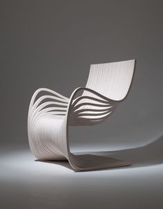 "Pipo Chair (laminated wood 3⁄4"" thickness - matte polyurethane)"