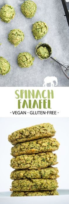 Spinach Falafel (vegan and gluten-free) | ElephantasticVegan.com #vegan #falafel #spinach #green #glutenfree